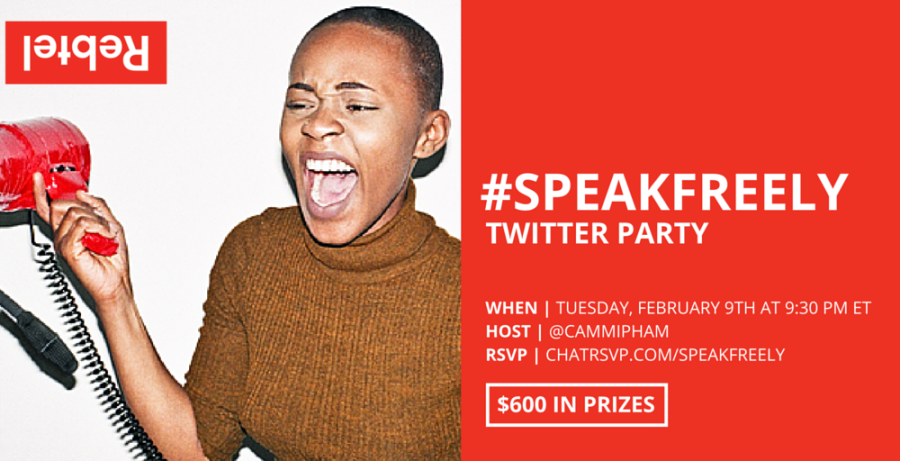 #Speakfreely With Rebel Calling Card [Twitter Chat + Giveaway]